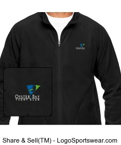 Mens Campus Microfleece Jacket Design Zoom